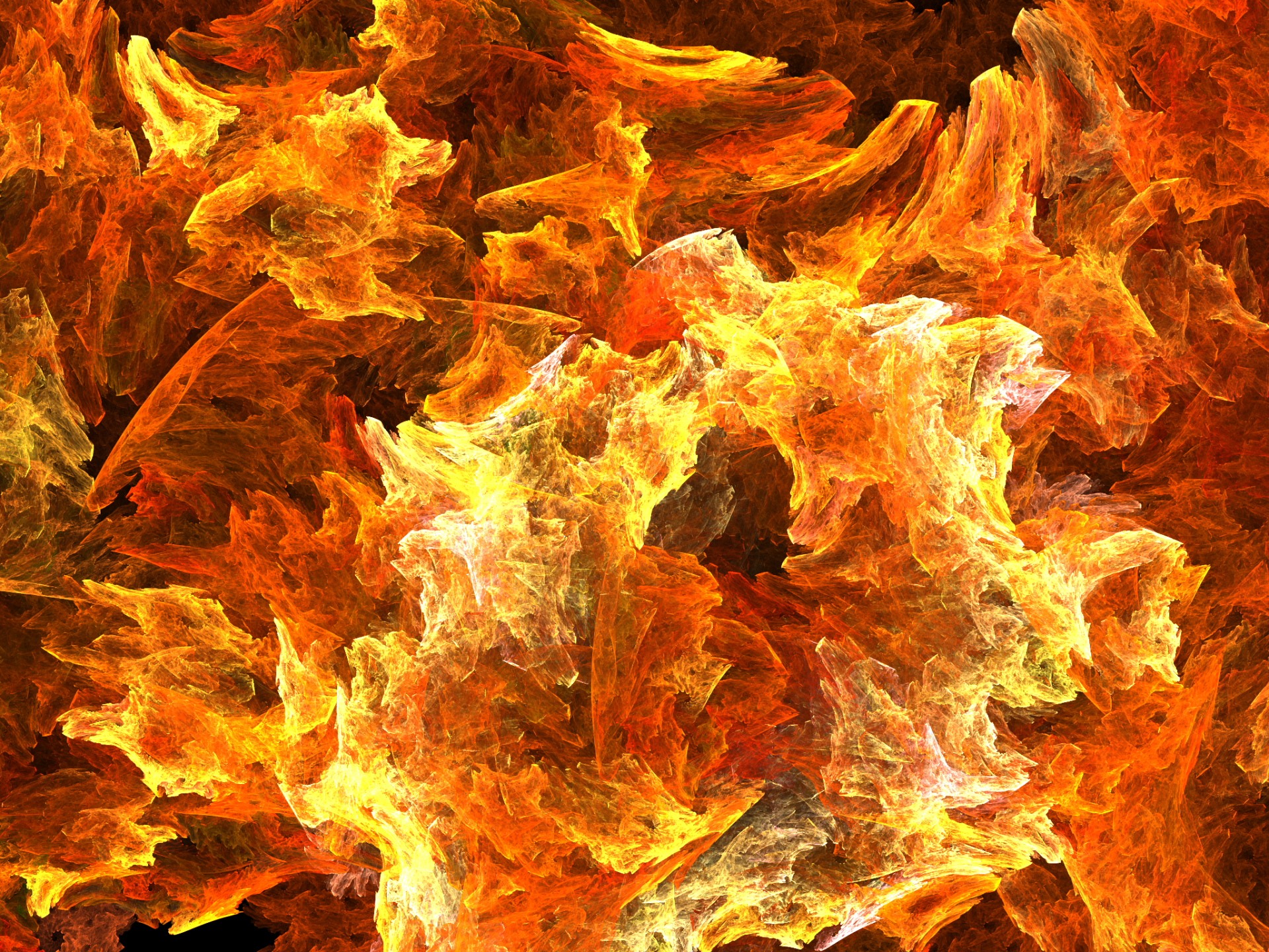 Abstract - Fractal  Apophysis (software) Orange Shapes Digital Art Fire Artistic Abstract Wallpaper