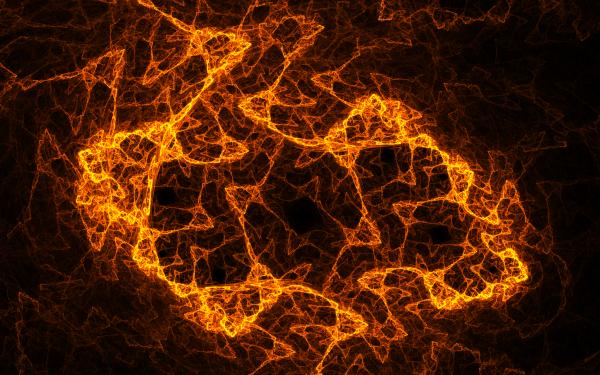 Abstract Fractal Apophysis orange Energy HD Wallpaper | Background Image