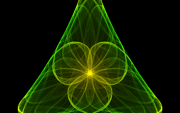 Abstract Fractal Triangle Green Chaoscope Symbol Generative HD Wallpaper | Background Image