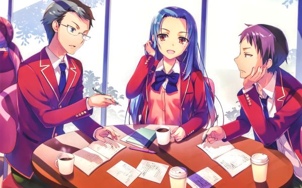 Anime Classroom of the Elite Haruka Hasebe Teruhiko Yukimura Akito Miyake HD Wallpaper | Background Image