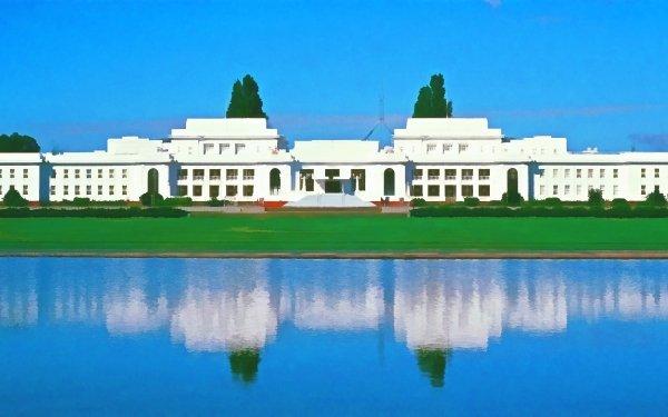 Artistic Building Buildings Parliament Reflection Canberra Australia HD Wallpaper | Background Image