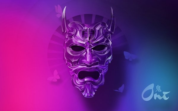 Artistic Mask Oni HD Wallpaper | Background Image