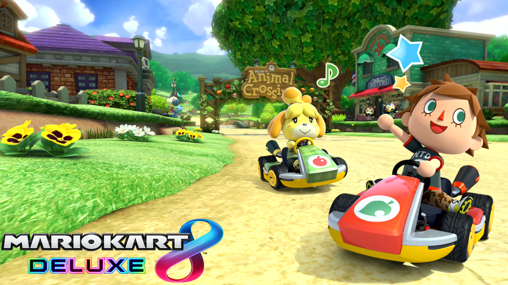 Mario Kart 8 Background: Mario Kart 8 Deluxe Animal Crossing Wallpaper HD Wallpaper