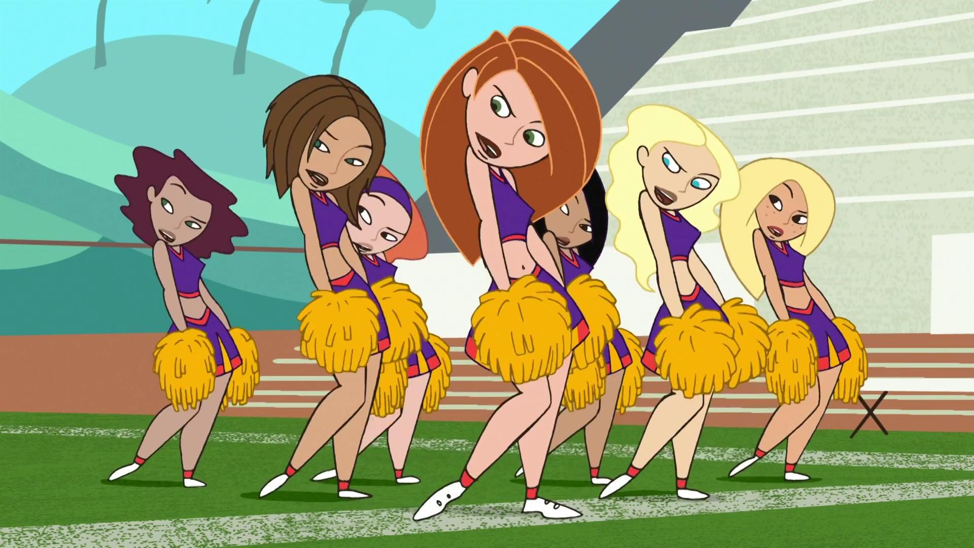 comic cheerleader Kim possible