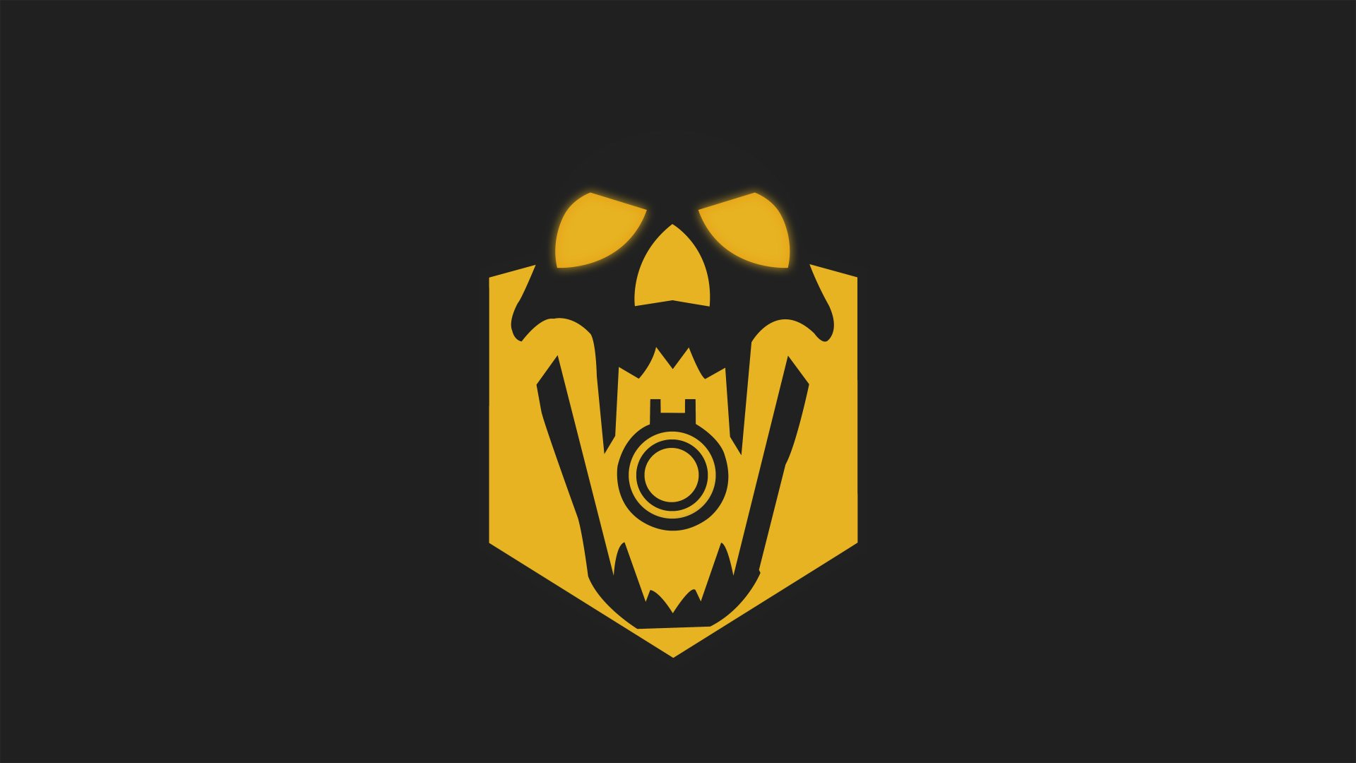 Video Game - Tom Clancy's Rainbow Six: Siege  Blackbeard (Tom Clancy's Rainbow Six: Siege) Minimalist Skull Yellow Wallpaper