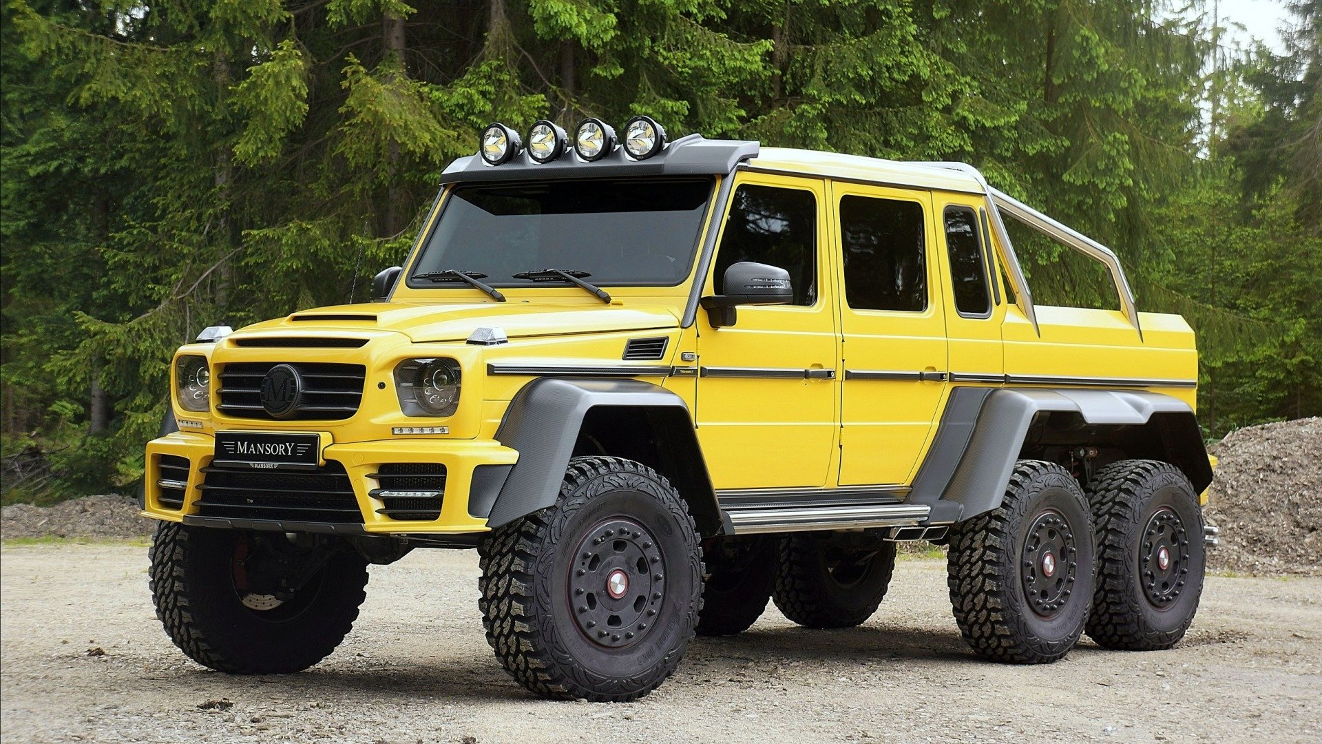 Vehicles - Mercedes-Benz G63 AMG 6x6  Mercedes-Benz G-Class Off-Road Yellow Car Wallpaper