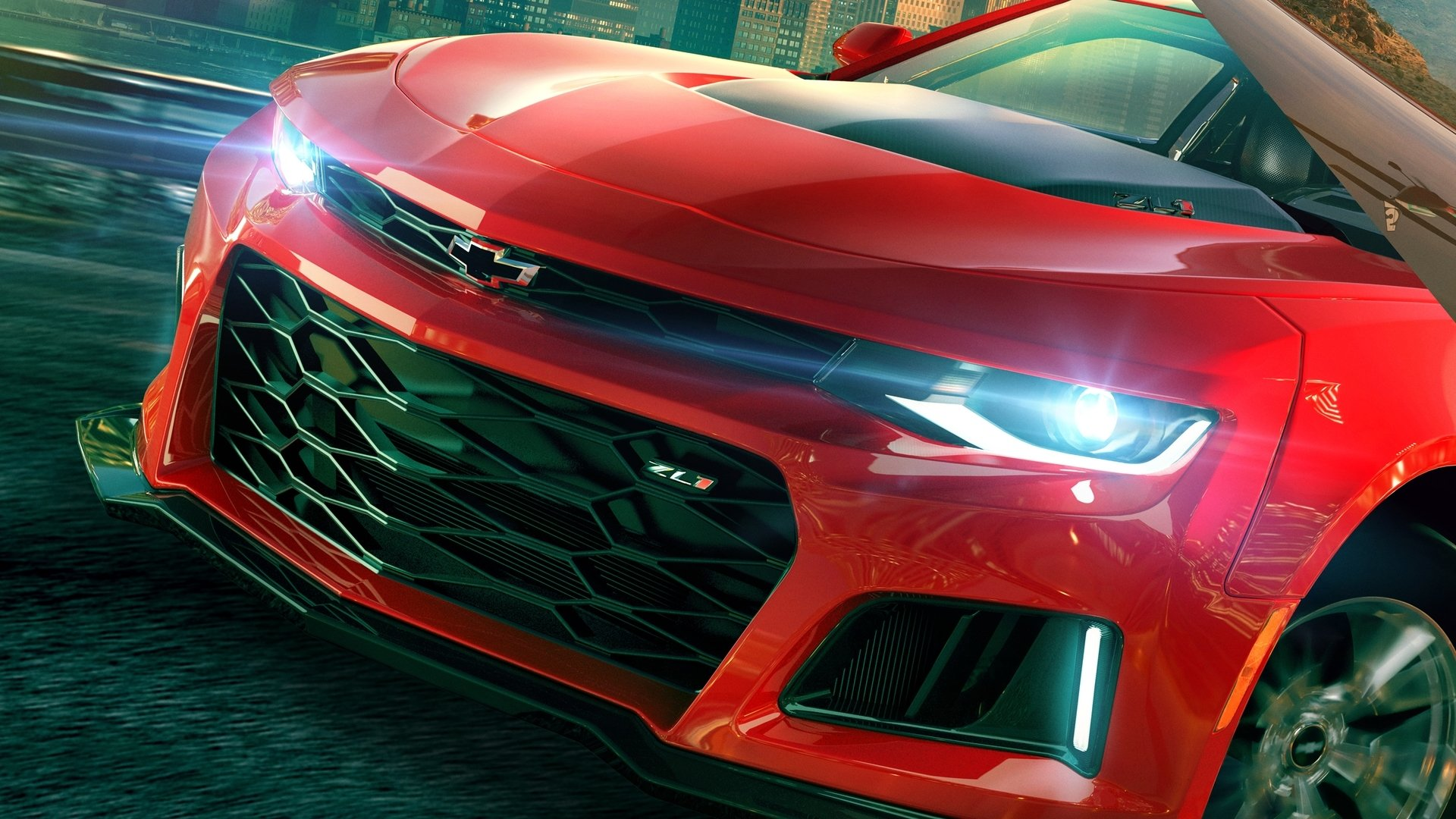 Video Game - The Crew 2  Chevrolet Camaro Chevrolet Red Car Sport Car Car Chevrolet Camaro ZL1 Wallpaper