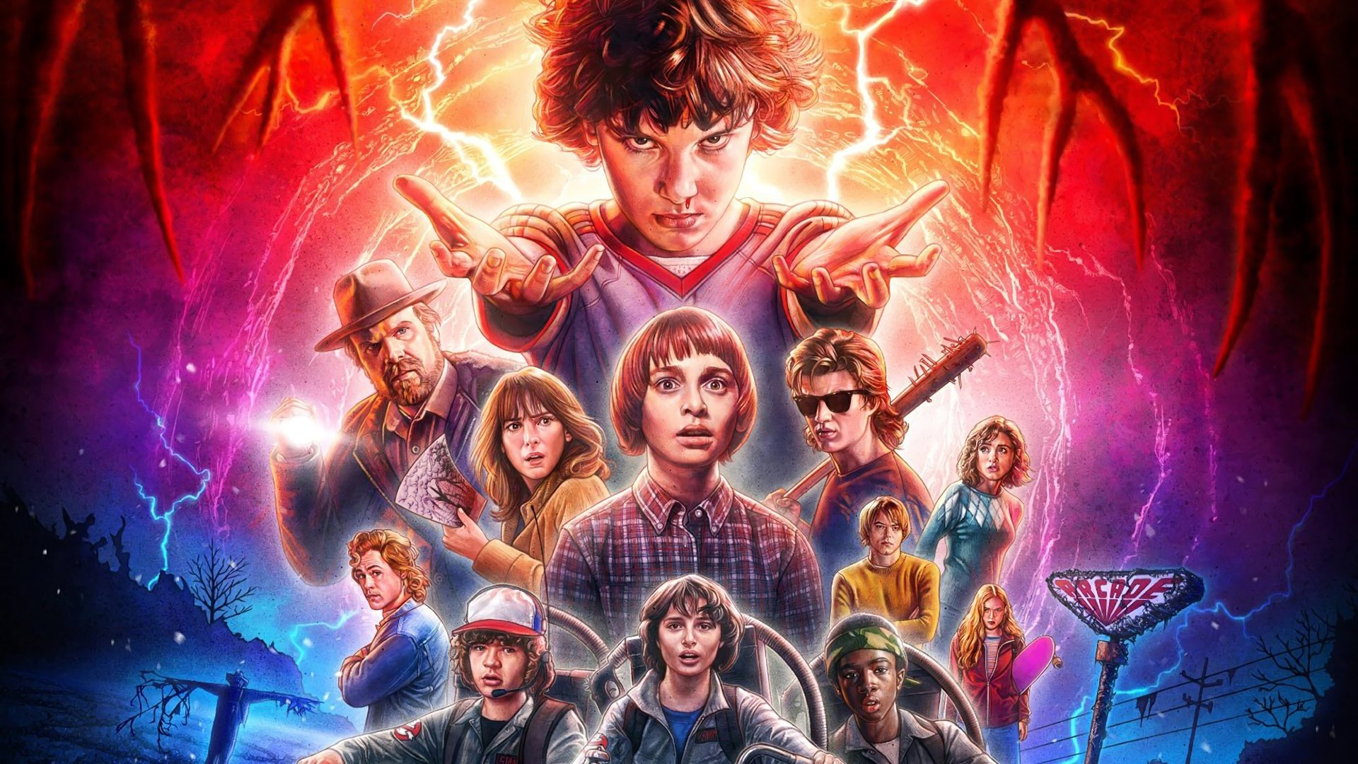 44 4k Ultra Hd Stranger Things Wallpapers Background Images