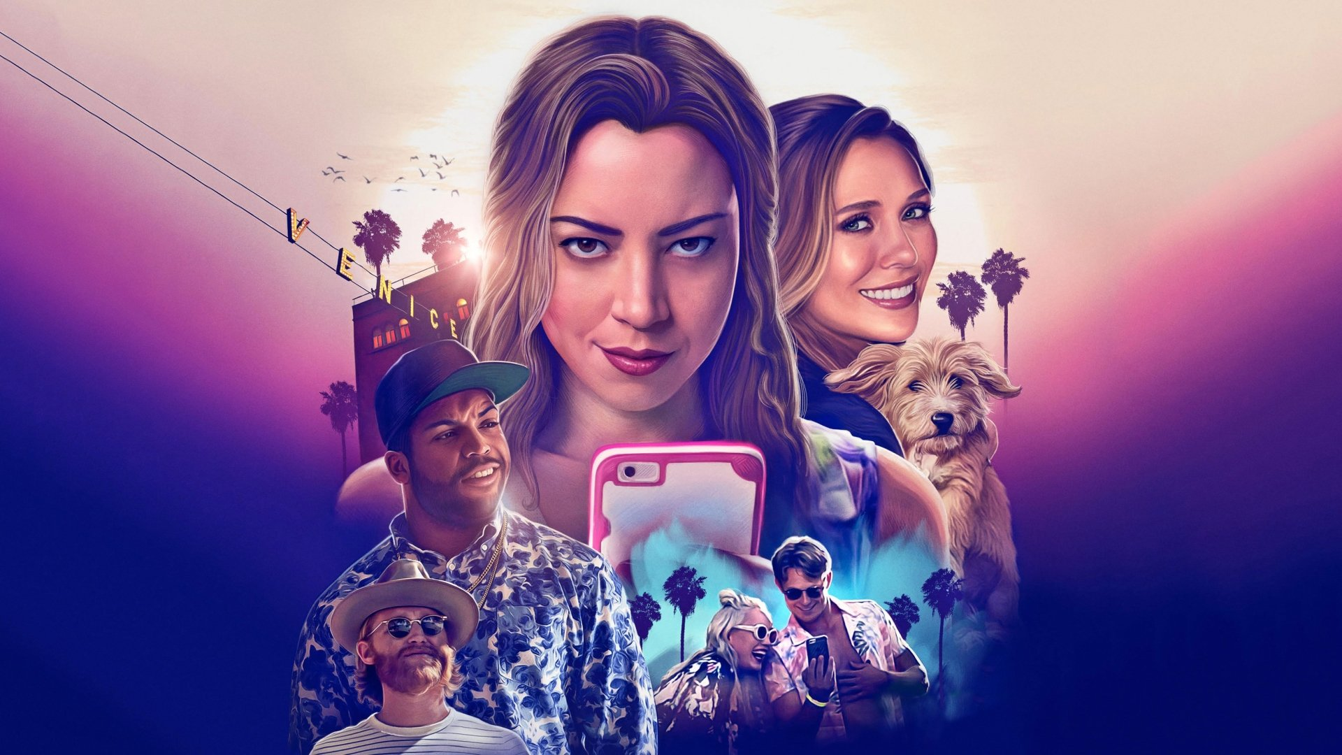 Movie - Ingrid Goes West  Aubrey Plaza Elizabeth Olsen Wyatt Russell O'Shea Jackson Jr. Billy Magnussen Pom Klementieff Wallpaper