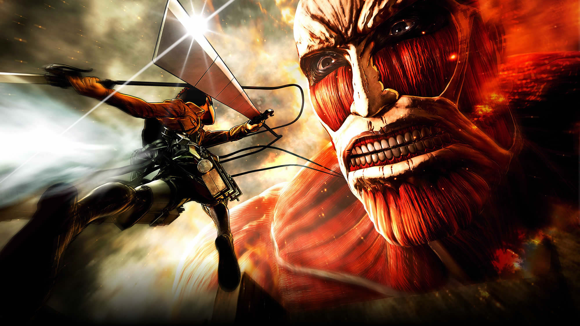 Attack On Titan Hd Wallpaper Background Image 2000x1125 Id 884623 Wallpaper Abyss