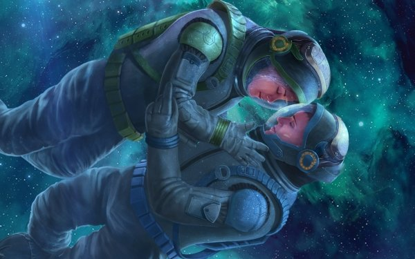 Sci Fi Astronaut Space Suit Space Love HD Wallpaper | Background Image