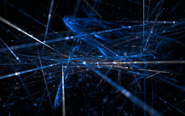 Abstract Lines Apophysis Glow Blue HD Wallpaper | Background Image