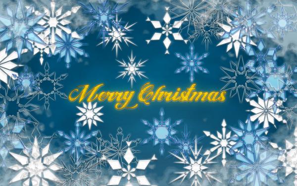 Día festivo Navidad Snow Copo de nieve Invierno Merry Christmas Fondo de pantalla HD | Fondo de Escritorio