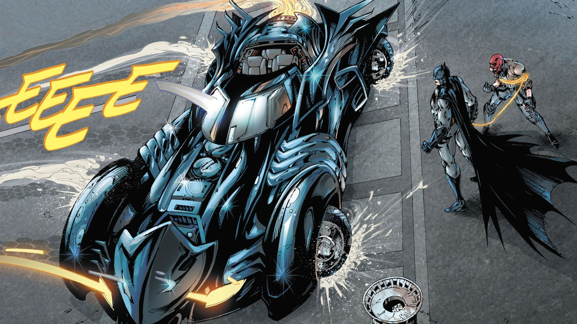 Comics - Batman  DC Comics Batmobile Red Hood Wallpaper