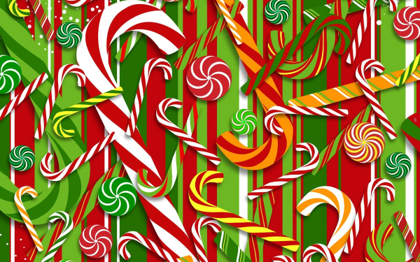 Holiday Christmas Candy Cane Caramel HD Wallpaper | Background Image