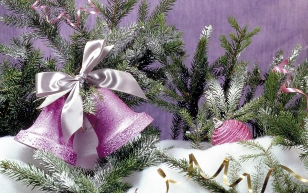 Holiday Christmas Decoration Bell Snow HD Wallpaper | Background Image