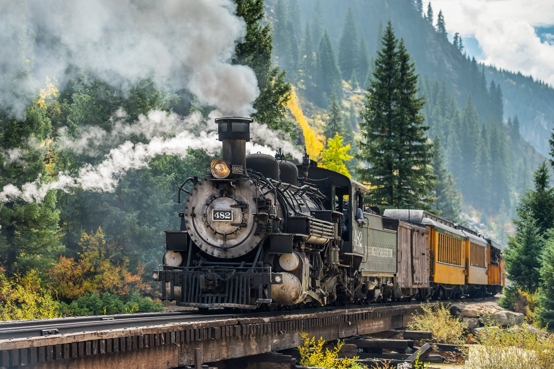 Vehicles - Train  Locomotive Steam Train Wallpaper