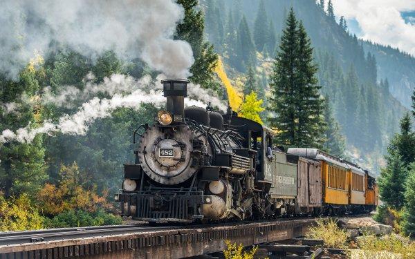 Vehicles Train Steam Train Locomotive HD Wallpaper | Background Image