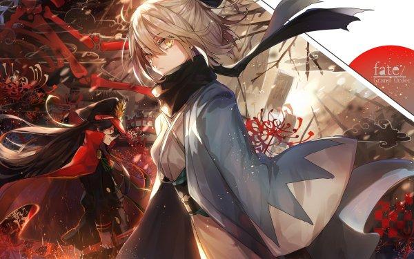 Anime Fate/Grand Order Fate Series Sakura Saber Oda Nobunaga Okita Souji HD Wallpaper | Background Image