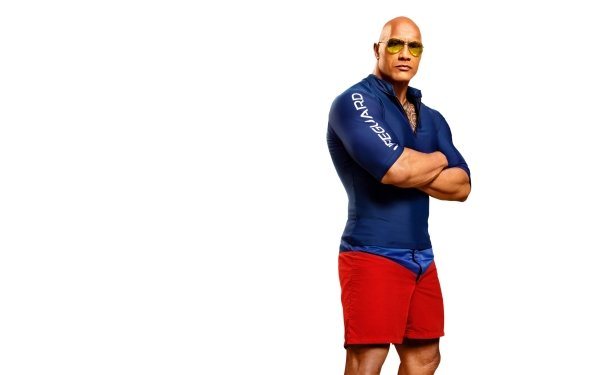 Movie Baywatch Dwayne Johnson Actor Muscle Sunglasses HD Wallpaper | Background Image