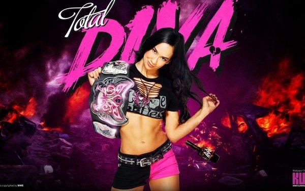 Sports Aj Lee Black Hair Brown Eyes WWE WWE Divas Shorts HD Wallpaper | Background Image