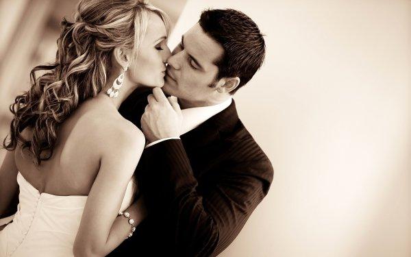 Photography Love Kiss Bride Groom Earrings HD Wallpaper | Background Image