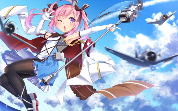 Anime Azur Lane Saratoga HD Wallpaper   Background Image