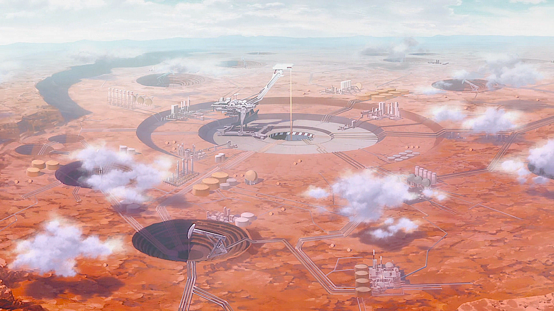 Anime - Darling in the FranXX  Desert Post Apocalyptic Cloud Anime Wallpaper