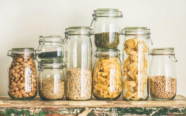 Food Still Life Jar Pasta HD Wallpaper | Background Image