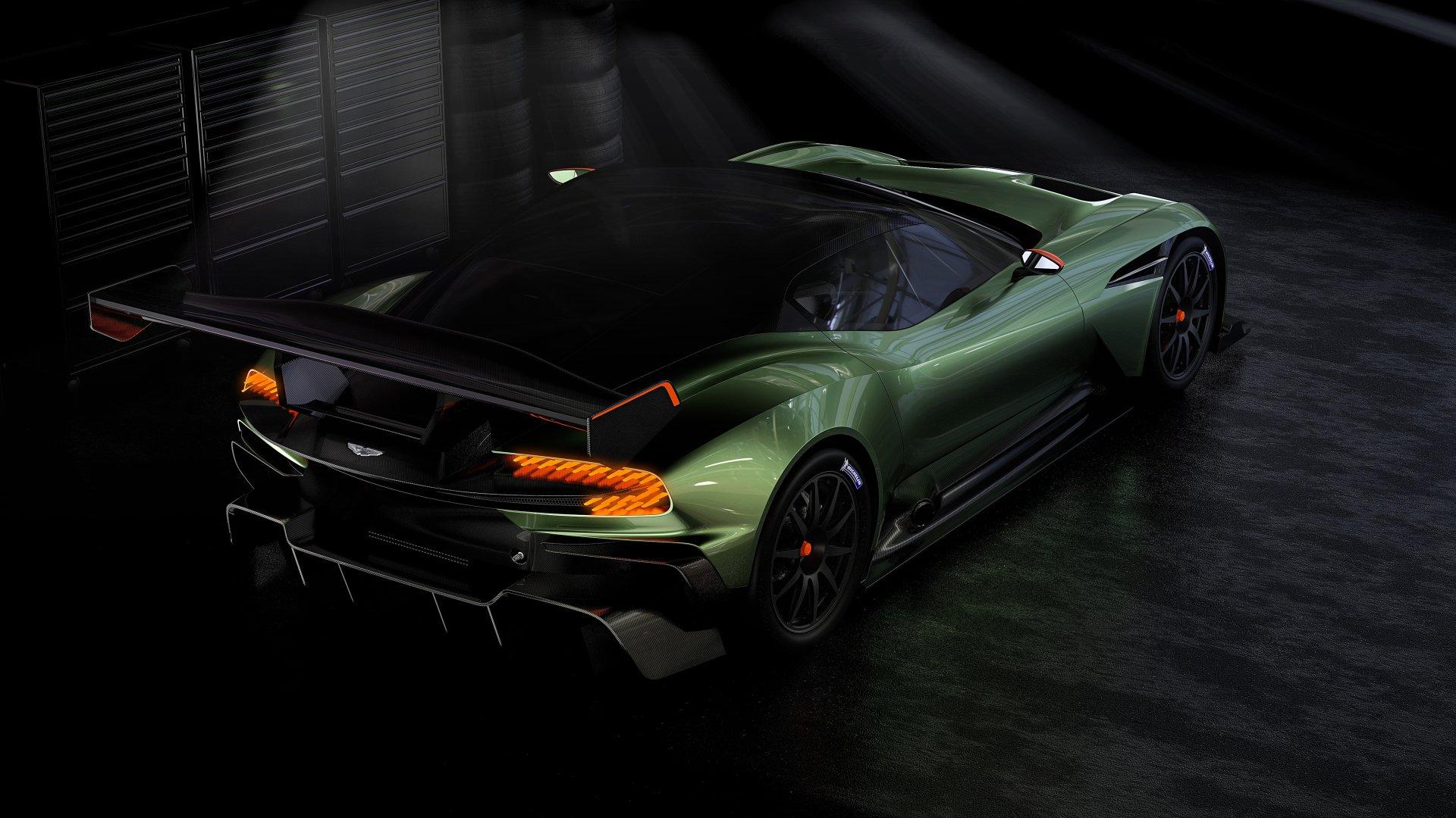 Vehicles - Aston Martin Vulcan  Aston Martin Race Car Hypercar Green Car Wallpaper