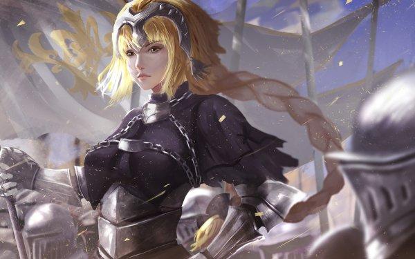 Anime Fate/Grand Order Fate Series Jeanne d'Arc Braid Long Hair Blonde Armor Helmet Fate Woman Chain HD Wallpaper | Background Image
