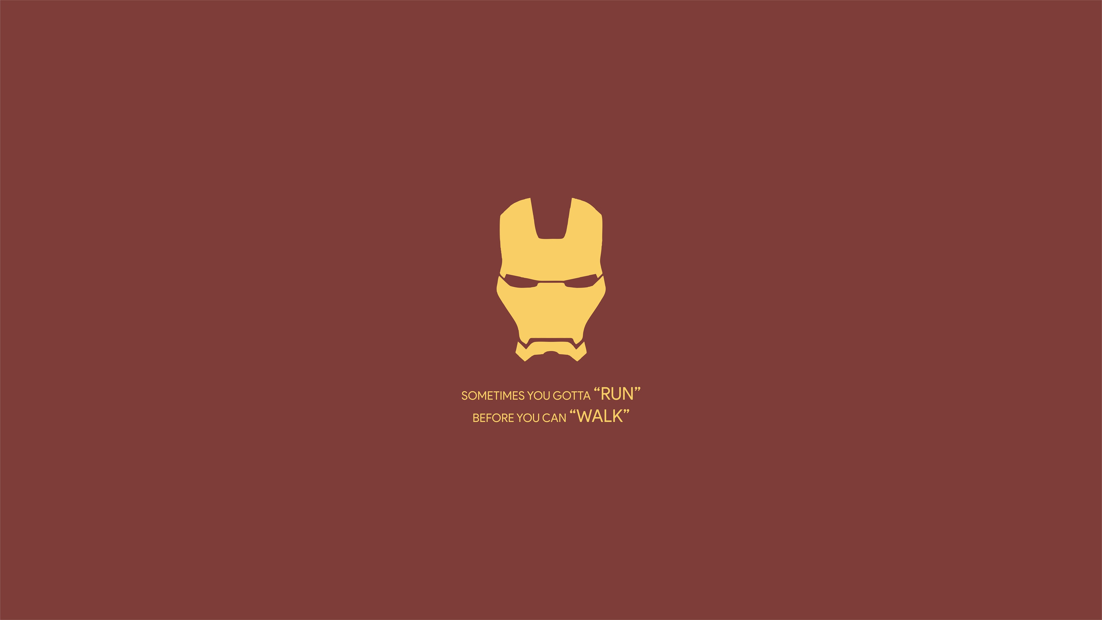 Iron Man Minimalist 4k Ultra Hd Wallpaper Background Image