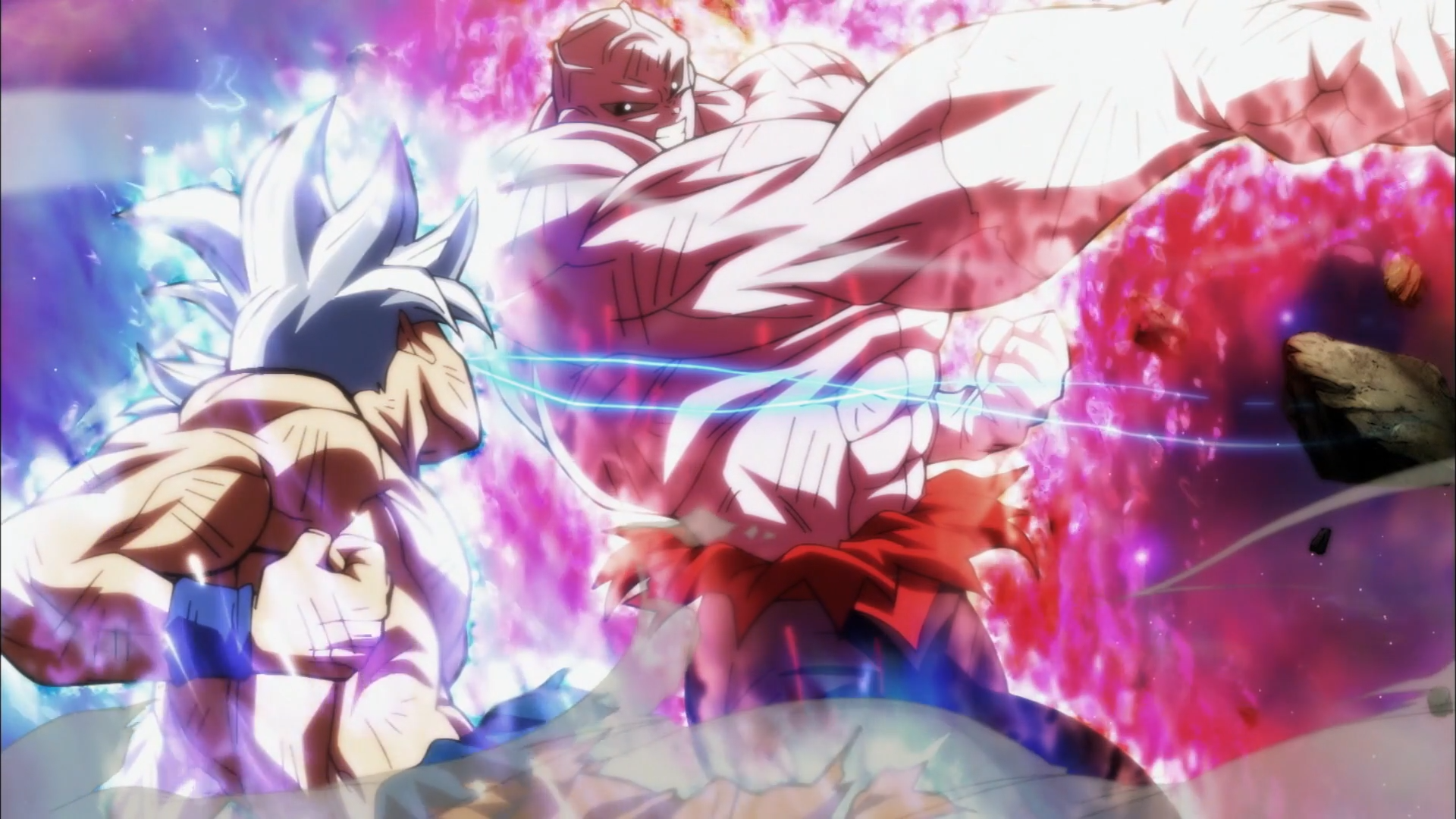 Son Goku Ultra Instinct Vs Jiren Hd Wallpaper Background Image