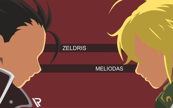 Anime The Seven Deadly Sins Meliodas Zeldris Black Hair Blonde HD Wallpaper   Background Image