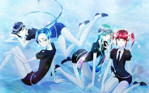 Anime Houseki no Kuni Alexandrite Benitoite Red Beryl Neptunite HD Wallpaper   Background Image