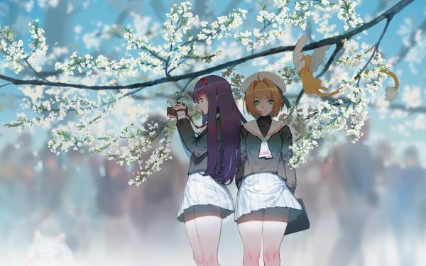 Anime Cardcaptor Sakura Tomoyo Daidouji Sakura Kinomoto Keroberos HD Wallpaper | Background Image
