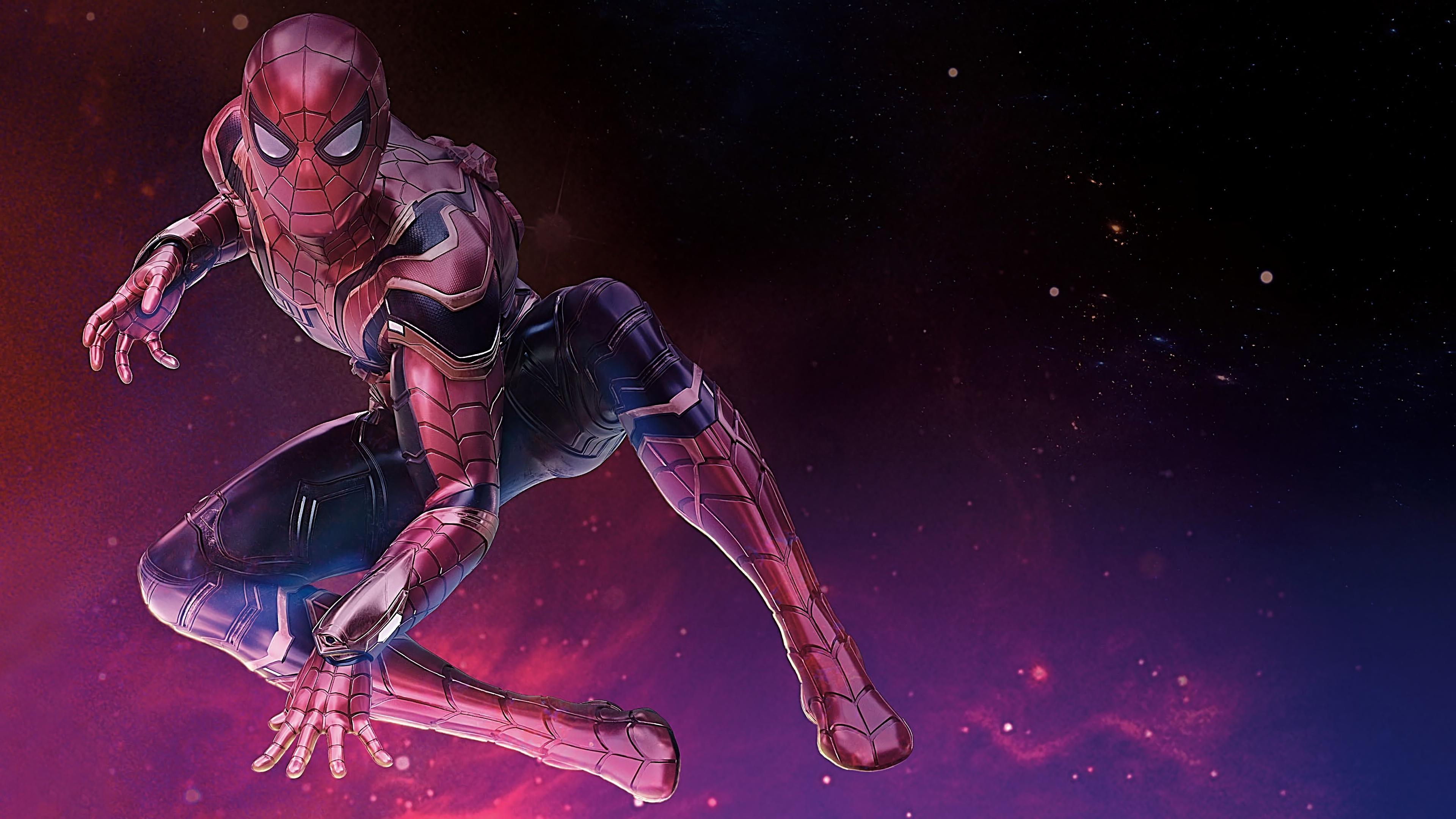 Avengers infinity war iron spider man 4k ultra hd - Iron man spiderman wallpaper ...