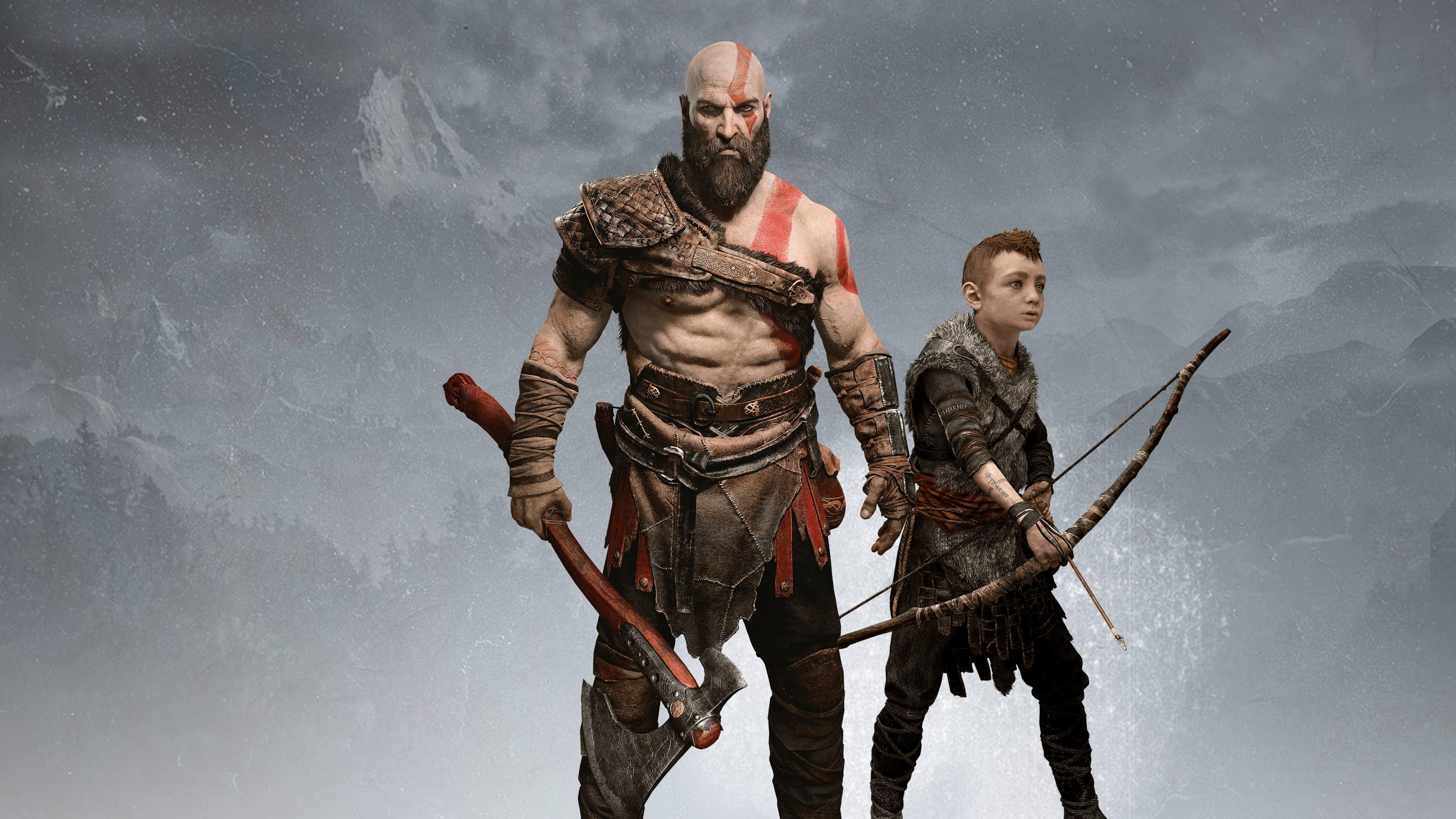 God of war 2018 4k ultra hd wallpaper background image 3840x2160 id 914833 wallpaper abyss - Wallpaper kratos ...