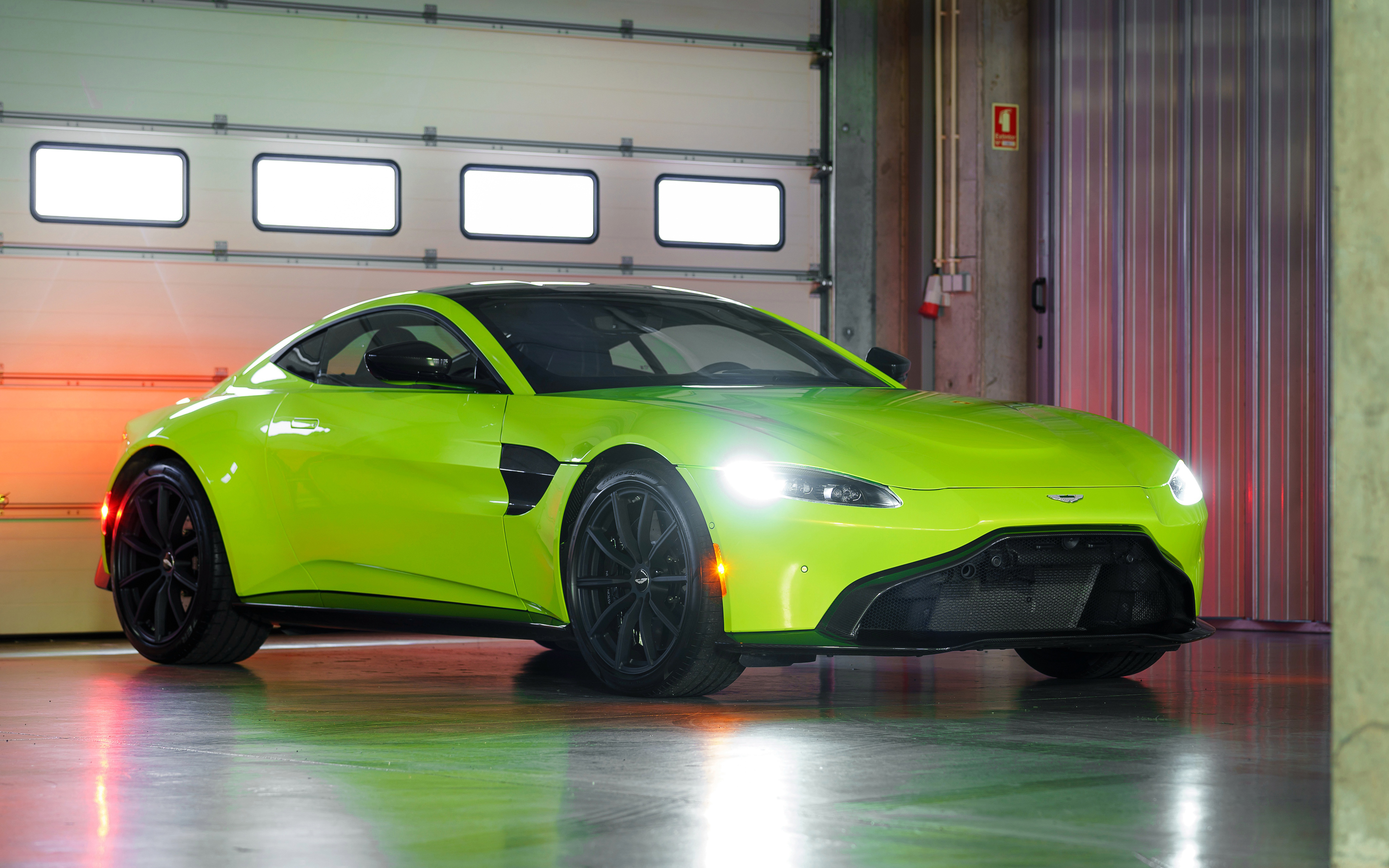 2019 Aston Martin Vantage Lime Essence Green 4k 4k Ultra Hd