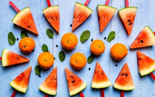 Food Popsicle Still Life Fruit Mandarin Watermelon HD Wallpaper | Background Image