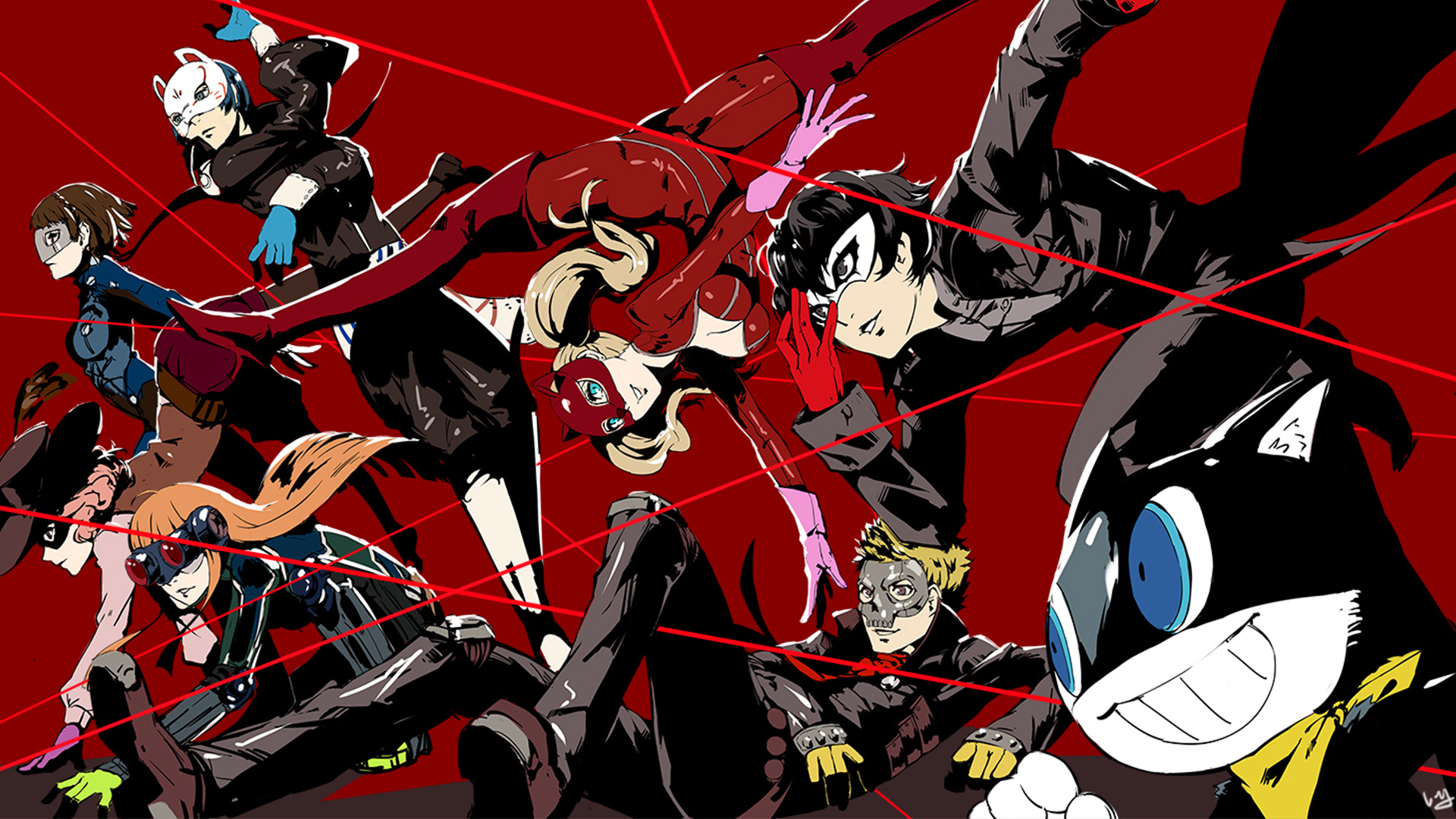 Persona 5 Party Hd Wallpaper Background Image 1920x1080 Id 917137 Wallpaper Abyss