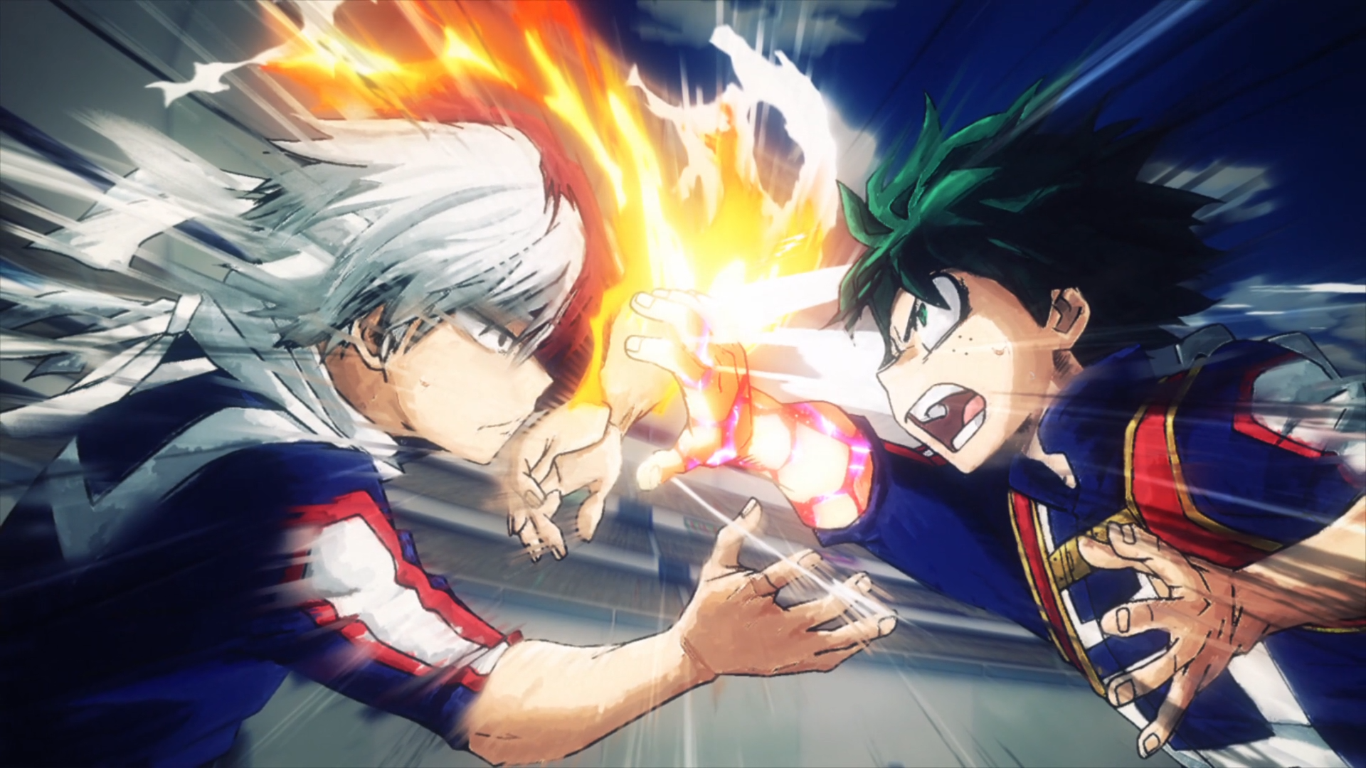 izuku vs shoto hd wallpaper