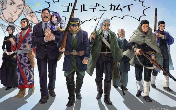 Anime Golden Kamuy Asirpa Ogata Hyakunosuke Ienaga Kano Kiroranke Shiraishi Yoshitake Sugimoto Saichi Tanigaki Genjirou Ushiyama Tatsuma HD Wallpaper   Background Image