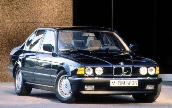 Vehicles BMW 7 Series BMW BMW 735i Luxury Car Sedan Full-Size Car Old Car Black Car Car HD Wallpaper | Background Image