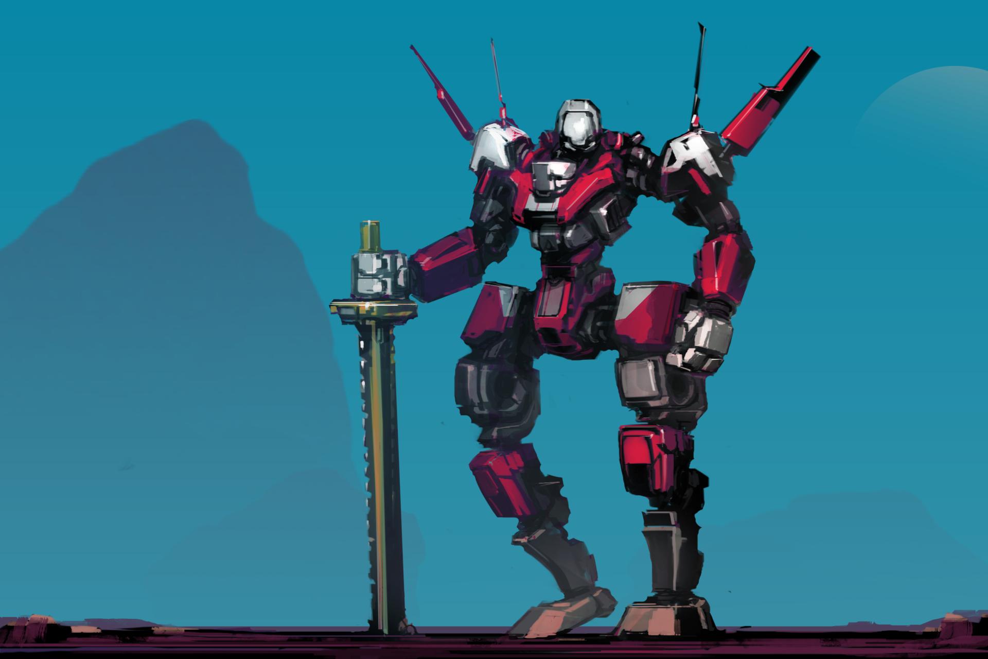科幻 - 机器人  剑 壁纸