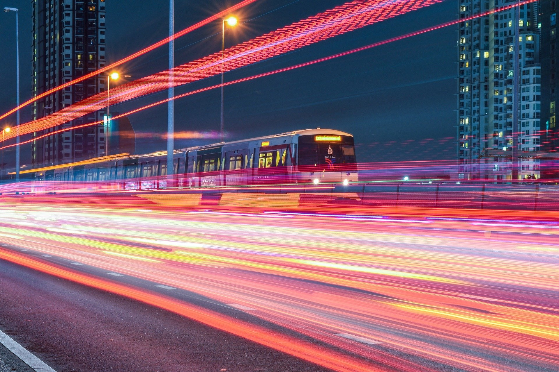 Photography - Time-lapse  Train Vehicle Wallpaper