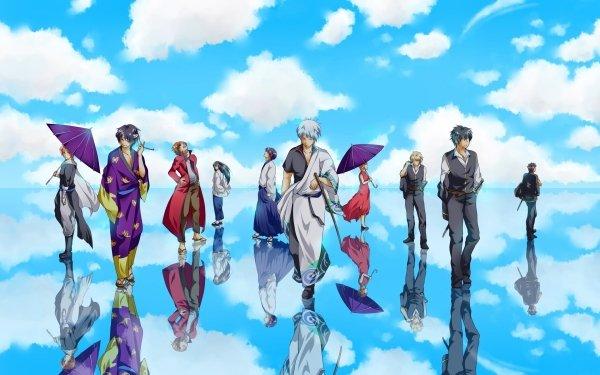 Anime Gintama Gintoki Sakata Shinsuke Takasugi Kagura Okita Sougo Kamui Sakamoto Tatsuma Kotaro Katsura Shimura Shinpachi Toushirou Hijikata Kondo Isao HD Wallpaper | Background Image