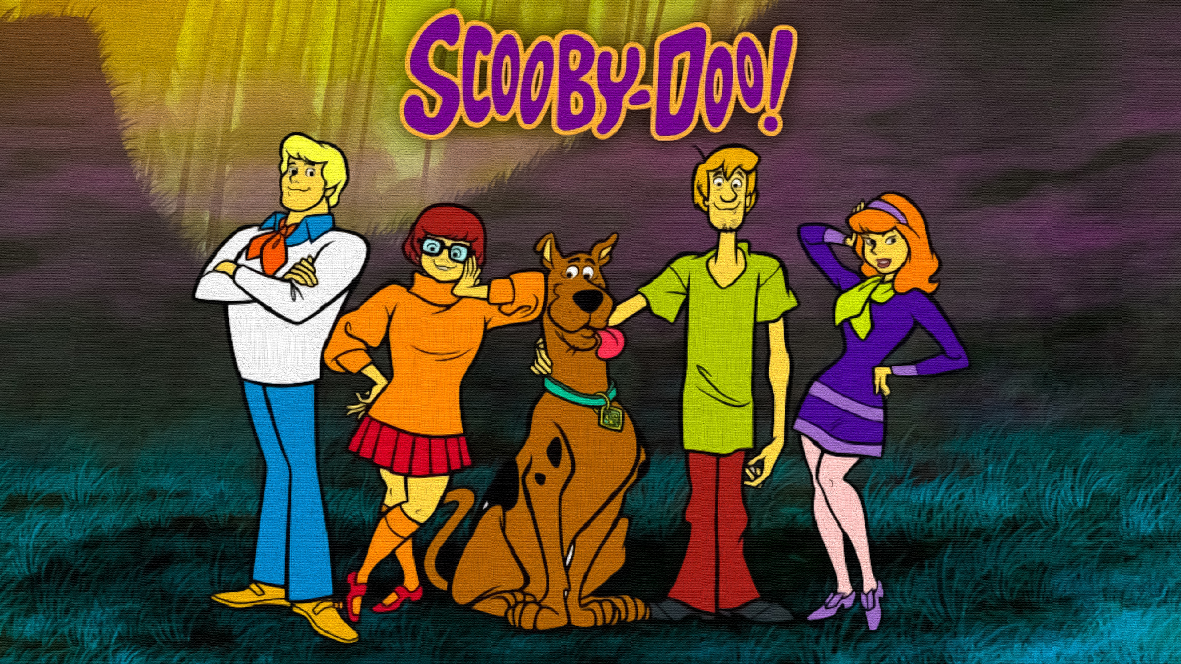 Scooby Doo Painting 4k Ultra Hd обои фон 3840x2160
