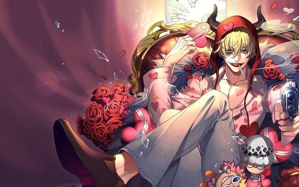 Anime One Piece Donquixote Rosinante Gun Pistol Smoking Donquixote Corazon HD Wallpaper | Background Image
