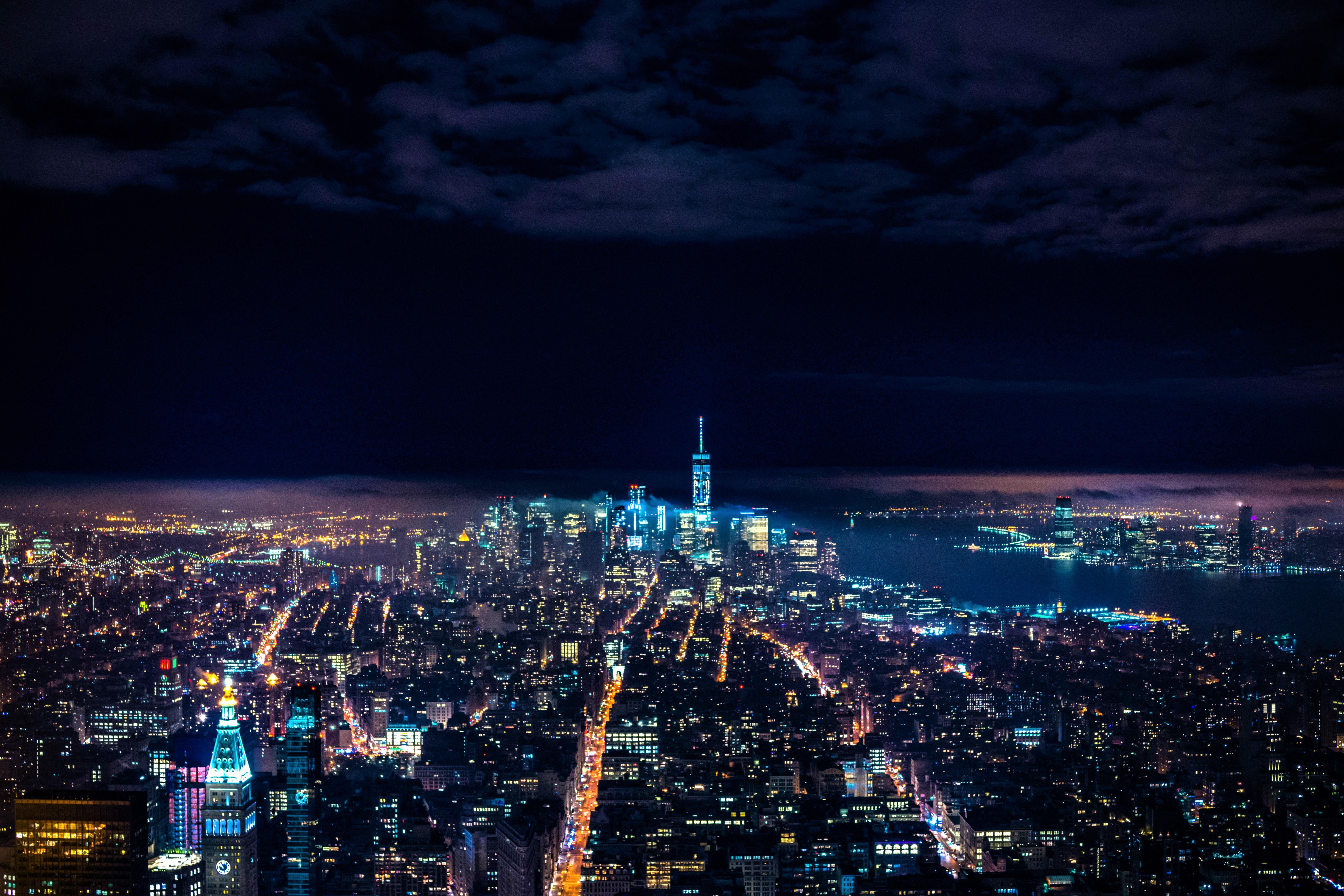 Nighttime In New York City 5k Retina Ultra Hd Wallpaper
